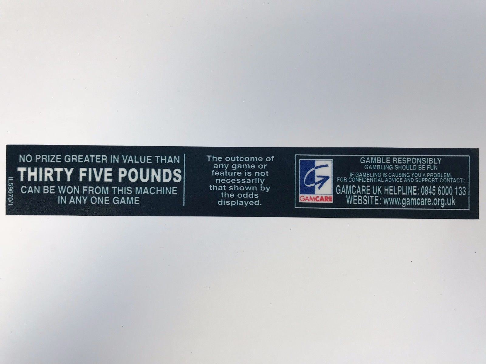 £35 prize info decal
